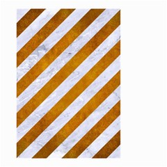Stripes3 White Marble & Yellow Grunge (r) Small Garden Flag (two Sides) by trendistuff