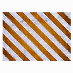 Stripes3 White Marble & Yellow Grunge Large Glasses Cloth by trendistuff