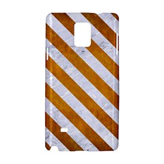 Stripes3 White Marble & Yellow Grunge Samsung Galaxy Note 4 Hardshell Case by trendistuff