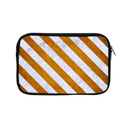 Stripes3 White Marble & Yellow Grunge Apple Macbook Pro 13  Zipper Case by trendistuff