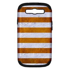 Stripes2white Marble & Yellow Grunge Samsung Galaxy S Iii Hardshell Case (pc+silicone) by trendistuff