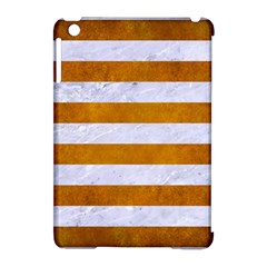 Stripes2white Marble & Yellow Grunge Apple Ipad Mini Hardshell Case (compatible With Smart Cover) by trendistuff