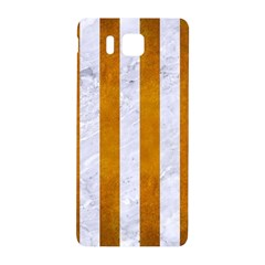 Stripes1 White Marble & Yellow Grunge Samsung Galaxy Alpha Hardshell Back Case