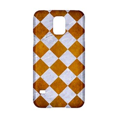 Square2 White Marble & Yellow Grunge Samsung Galaxy S5 Hardshell Case  by trendistuff