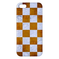 Square1 White Marble & Yellow Grunge Iphone 5s/ Se Premium Hardshell Case by trendistuff