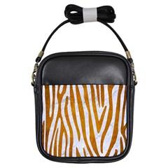 Skin4 White Marble & Yellow Grunge Girls Sling Bags by trendistuff