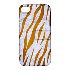 Skin3 White Marble & Yellow Grunge (r) Apple Iphone 4/4s Hardshell Case With Stand by trendistuff