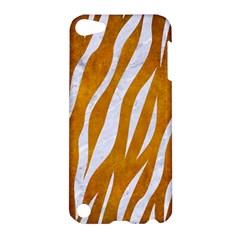 Skin3 White Marble & Yellow Grunge Apple Ipod Touch 5 Hardshell Case by trendistuff