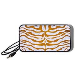 Skin2 White Marble & Yellow Grunge (r) Portable Speaker by trendistuff