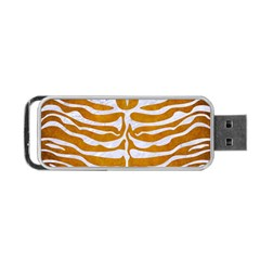 Skin2 White Marble & Yellow Grunge Portable Usb Flash (two Sides) by trendistuff