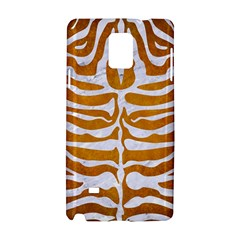 Skin2 White Marble & Yellow Grunge Samsung Galaxy Note 4 Hardshell Case by trendistuff