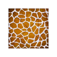 Skin1 White Marble & Yellow Grunge (r) Acrylic Tangram Puzzle (4  X 4 ) by trendistuff