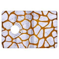 Skin1 White Marble & Yellow Grunge Kindle Fire Hdx Flip 360 Case by trendistuff