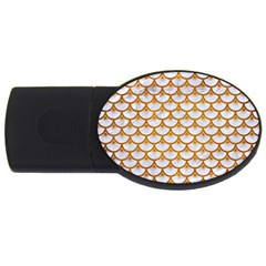 Scales3 White Marble & Yellow Grunge (r) Usb Flash Drive Oval (2 Gb) by trendistuff