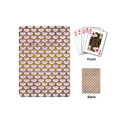 Scales3 White Marble & Yellow Grunge (r) Playing Cards (mini)  by trendistuff