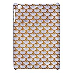 Scales3 White Marble & Yellow Grunge (r) Apple Ipad Mini Hardshell Case by trendistuff