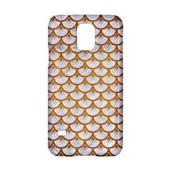 Scales3 White Marble & Yellow Grunge (r) Samsung Galaxy S5 Hardshell Case  by trendistuff