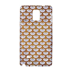 Scales3 White Marble & Yellow Grunge (r) Samsung Galaxy Note 4 Hardshell Case by trendistuff