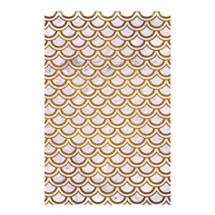 Scales2 White Marble & Yellow Grunge (r) Shower Curtain 48  X 72  (small)  by trendistuff