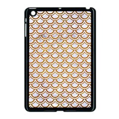 Scales2 White Marble & Yellow Grunge (r) Apple Ipad Mini Case (black) by trendistuff