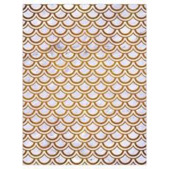 Scales2 White Marble & Yellow Grunge (r) Drawstring Bag (large) by trendistuff