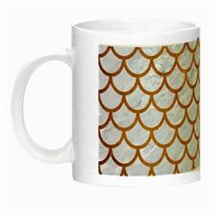 Scales1 White Marble & Yellow Grunge (r) Night Luminous Mugs by trendistuff