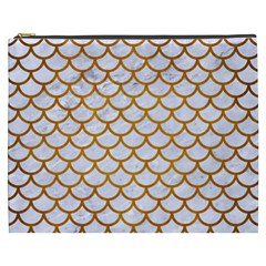Scales1 White Marble & Yellow Grunge (r) Cosmetic Bag (xxxl)  by trendistuff
