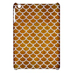 Scales1 White Marble & Yellow Grunge Apple Ipad Mini Hardshell Case by trendistuff