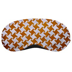 Houndstooth2 White Marble & Yellow Grunge Sleeping Masks by trendistuff