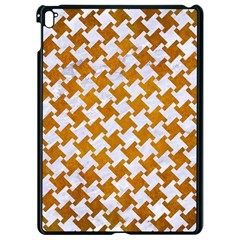 Houndstooth2 White Marble & Yellow Grunge Apple Ipad Pro 9 7   Black Seamless Case by trendistuff