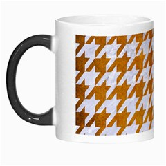 Houndstooth1 White Marble & Yellow Grunge Morph Mugs by trendistuff