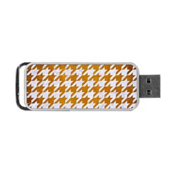 Houndstooth1 White Marble & Yellow Grunge Portable Usb Flash (one Side) by trendistuff