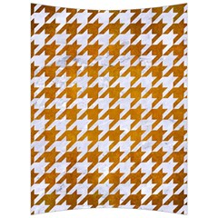 Houndstooth1 White Marble & Yellow Grunge Back Support Cushion by trendistuff
