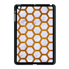 Hexagon2 White Marble & Yellow Grunge (r) Apple Ipad Mini Case (black) by trendistuff