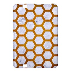 Hexagon2 White Marble & Yellow Grunge (r) Kindle Fire Hd 8 9  by trendistuff