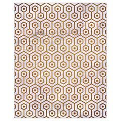 Hexagon1 White Marble & Yellow Grunge (r) Drawstring Bag (small)