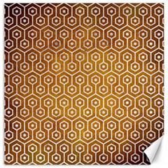 Hexagon1 White Marble & Yellow Grunge Canvas 20  X 20   by trendistuff