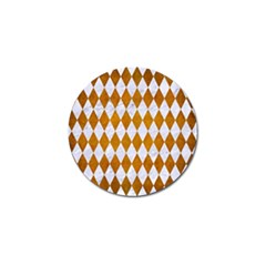 Diamond1 White Marble & Yellow Grunge Golf Ball Marker (4 Pack) by trendistuff