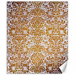 Damask2 White Marble & Yellow Grunge (r) Canvas 20  X 24   by trendistuff