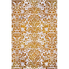 Damask2 White Marble & Yellow Grunge (r) 5 5  X 8 5  Notebooks by trendistuff