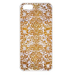 Damask2 White Marble & Yellow Grunge (r) Apple Iphone 5 Seamless Case (white) by trendistuff