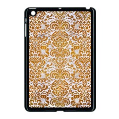 Damask2 White Marble & Yellow Grunge (r) Apple Ipad Mini Case (black) by trendistuff