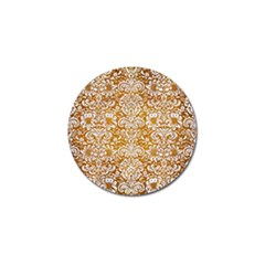 Damask2 White Marble & Yellow Grunge Golf Ball Marker (10 Pack) by trendistuff