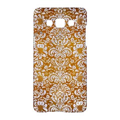 Damask2 White Marble & Yellow Grunge Samsung Galaxy A5 Hardshell Case  by trendistuff