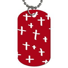 Red White Cross Dog Tag (two Sides) by snowwhitegirl