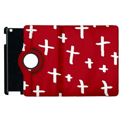 Red White Cross Apple Ipad 3/4 Flip 360 Case by snowwhitegirl