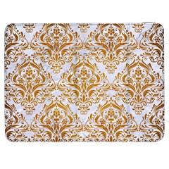Damask1 White Marble & Yellow Grunge (r) Samsung Galaxy Tab 7  P1000 Flip Case by trendistuff