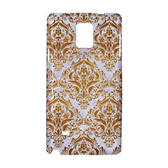Damask1 White Marble & Yellow Grunge (r) Samsung Galaxy Note 4 Hardshell Case by trendistuff