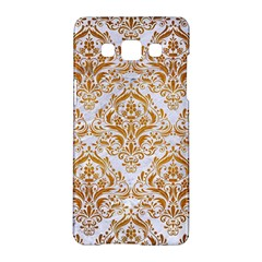 Damask1 White Marble & Yellow Grunge (r) Samsung Galaxy A5 Hardshell Case  by trendistuff