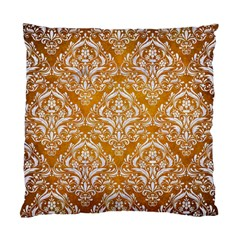 Damask1 White Marble & Yellow Grunge Standard Cushion Case (two Sides) by trendistuff